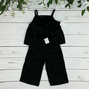 NWT Genuine Kids OshKosh Black Sparkle Outfit
